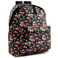 Mochila Escolar Black Flower