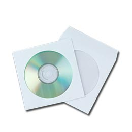 Envelope de Papel Branco p/ CD's Q-Connect (Pack 50)