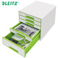 Bloco Classificador c/ 5 Gavetas Leitz Wow 5214 Verde