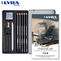 Lyra Rembrandt Charcoal Set Cx. Metal 12 Pcs