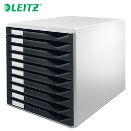 Bloco Classificador c/ 10 Gavetas Leitz 5281 Preto