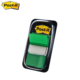 Bandas Separadoras Adesivas Post-it 3M 25x43mm (50 Fls) Verde