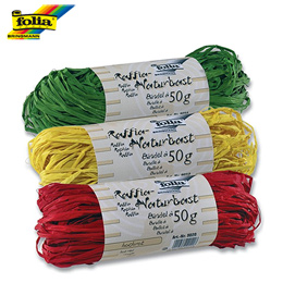 Ráfia Natural Colorida Folia 50g