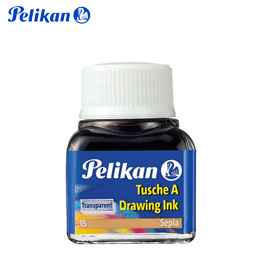 Tinta da China Pelikan 10 ml Sépia